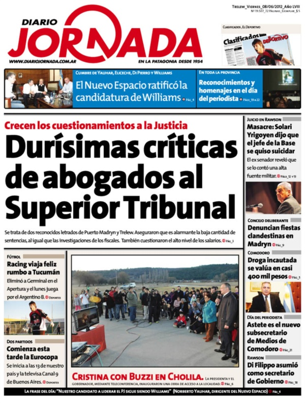 diarios de comodoro rivadavia argentina: